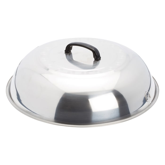 Winco WKCS-18 Wok Cover, 17-3/4 in, Stainless Steel