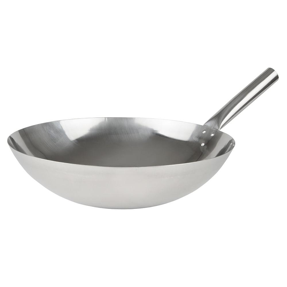 "Winco WOK-16N 16"" Stainless Stir Fry Pan"