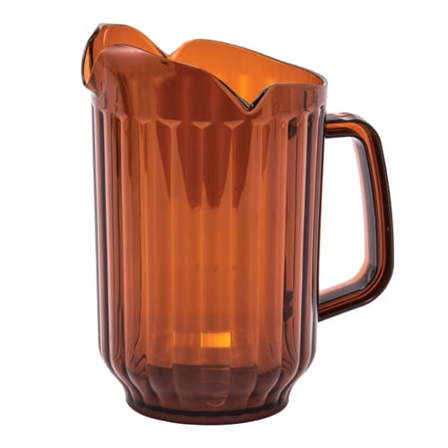 Winco WPCT-60A 60-oz Water Pitcher, 3-Spout, Polycarbonate, Amber