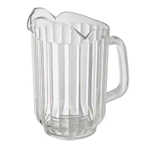 Winco WPCT-60C 60-oz Water Pitcher w/ 3-Spouts, Polycarbonate, Clear