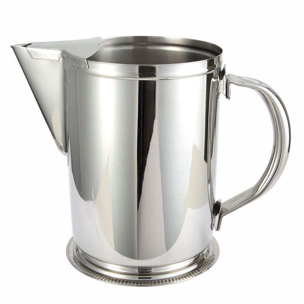 Winco WPG-64 64 oz Water Pitcher w/ Guard & Handle, Stainless