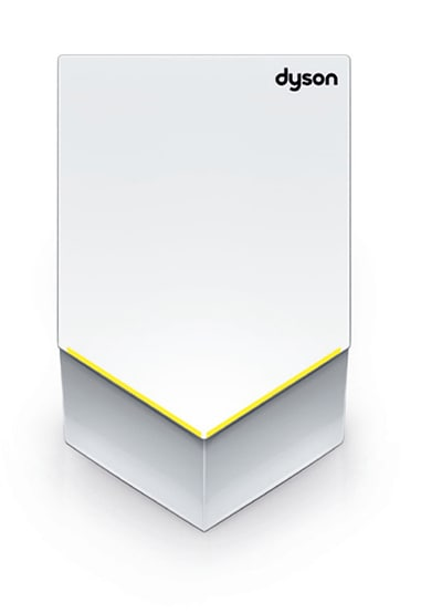 Dyson AB12 ADA Compliant Airblade V Automatic Hand Dryer - Wall Mount, White, 110-120v