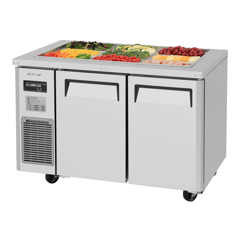 Turbo Air JBT-48 2 Section Refrigerated Buffet Table w/ Swing Doors, 10.9 cu ft, 115v