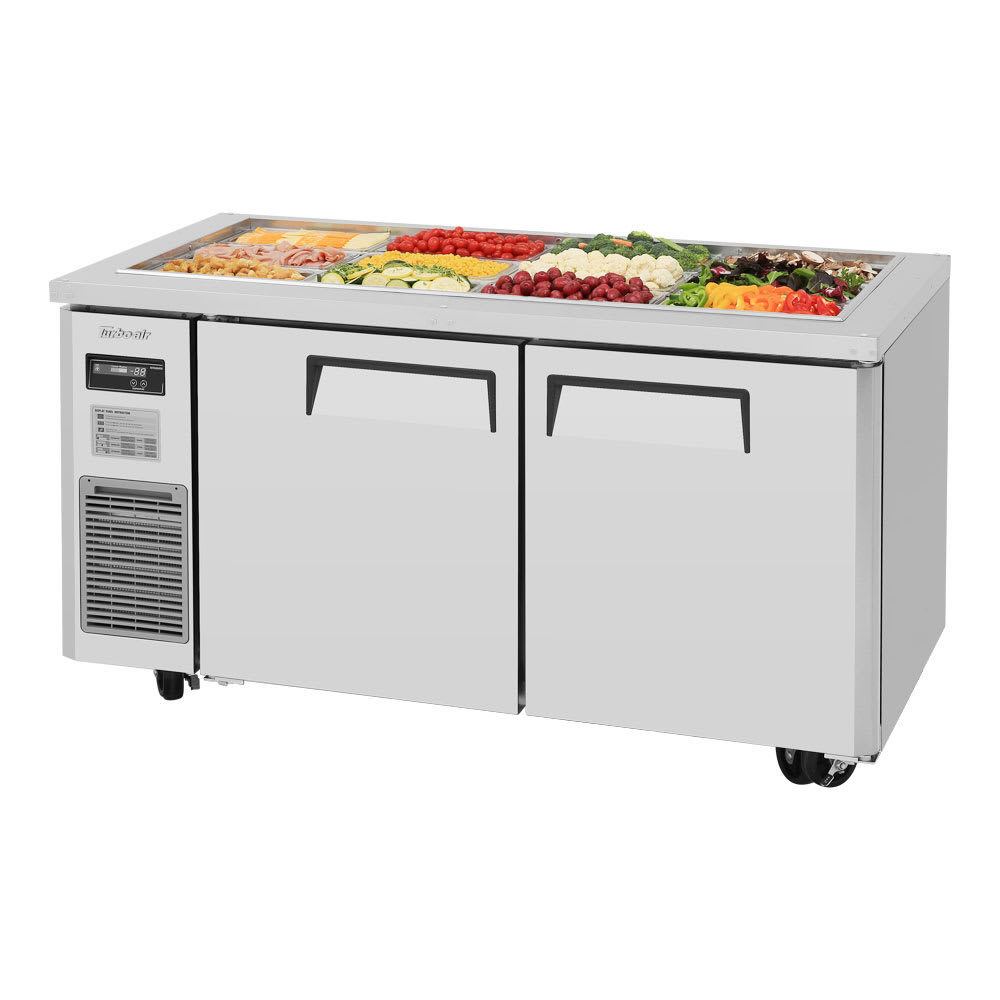 Turbo Air JBT-60 Refrigerated Buffet Table w/ (2) Swing Doors, Stainless, 115v