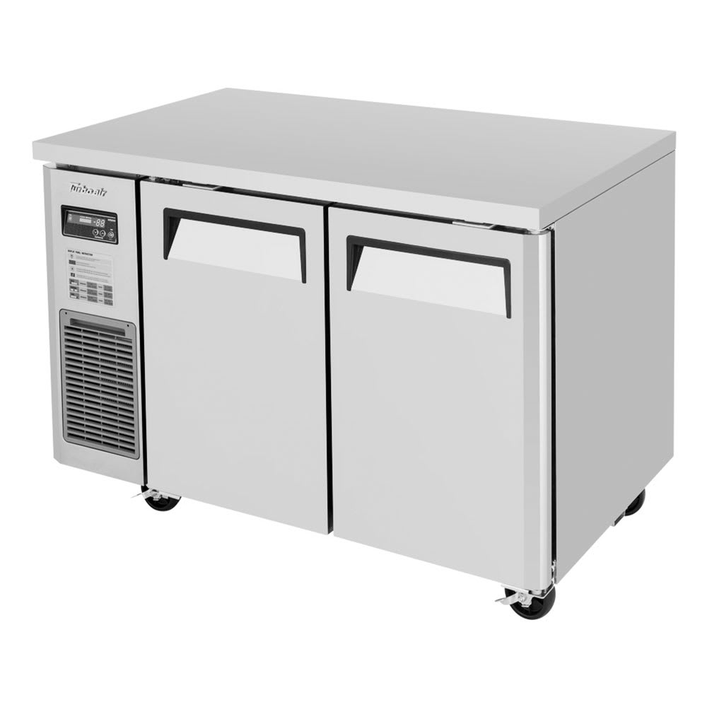 Turbo Air JUF-48-N 9.9 cu ft Undercounter Freezer w/ (2) Sections & (2) Doors, 115v