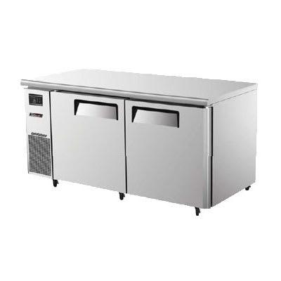 Turbo Air JUF-60 15 cu ft Undercounter Freezer w/ (2) Sections & (2) Doors, 115v