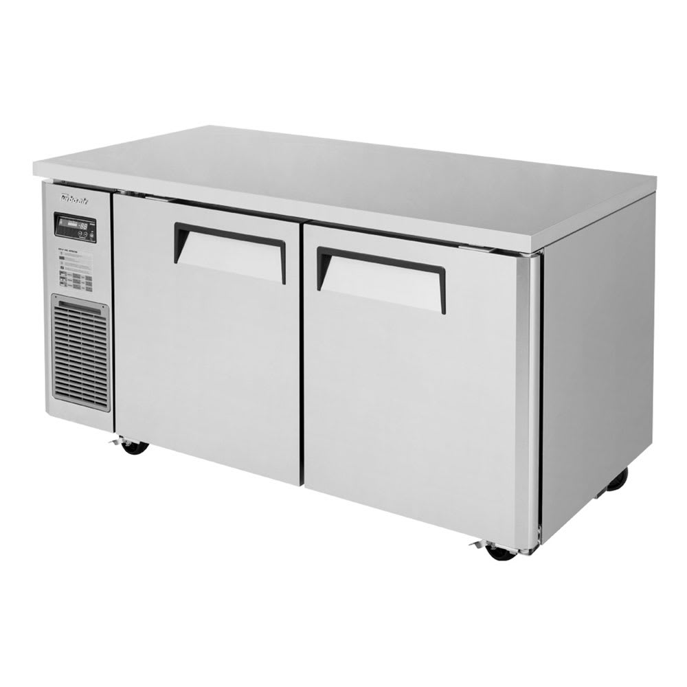 Turbo Air JUF-60-N 13.6 cu ft Undercounter Freezer w/ (2) Section & (2) Door, 115v