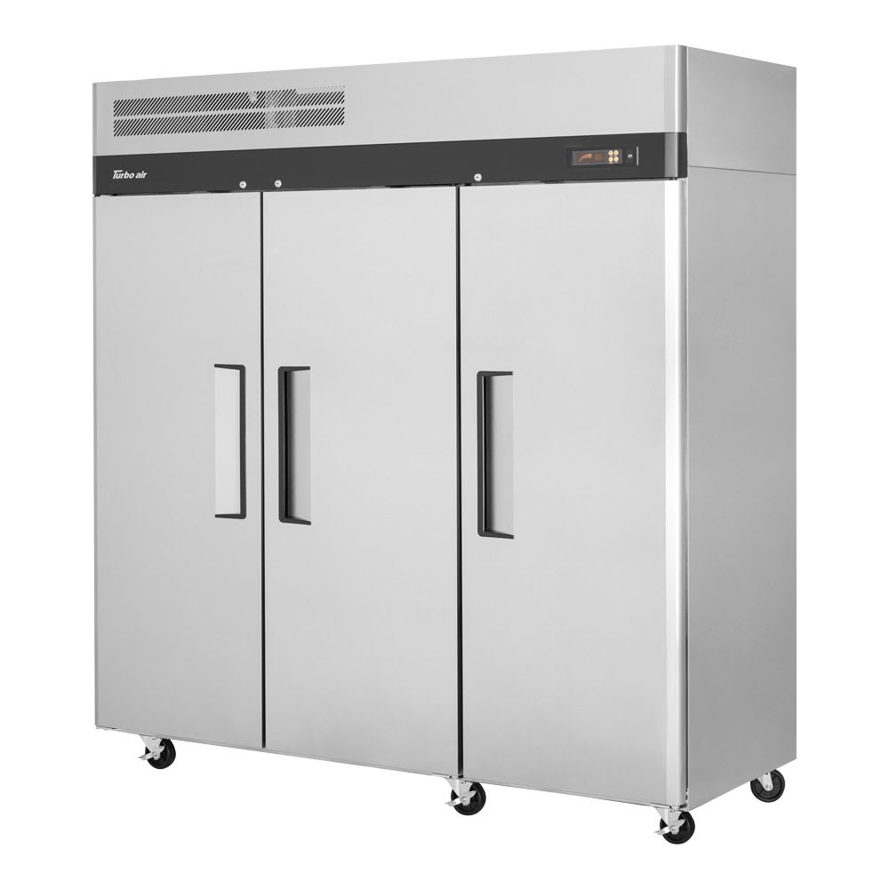 "Turbo Air M3F72-3-N 78"" Three Section Reach-In Freezer, (3) Solid Doors, 115v"