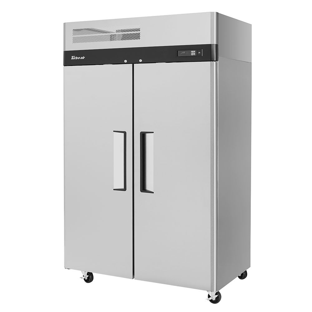 """Turbo Air M3R47-2-N 51.75"""" Two Section Reach-In Refrigerator, (2) Solid Doors, 115v"""