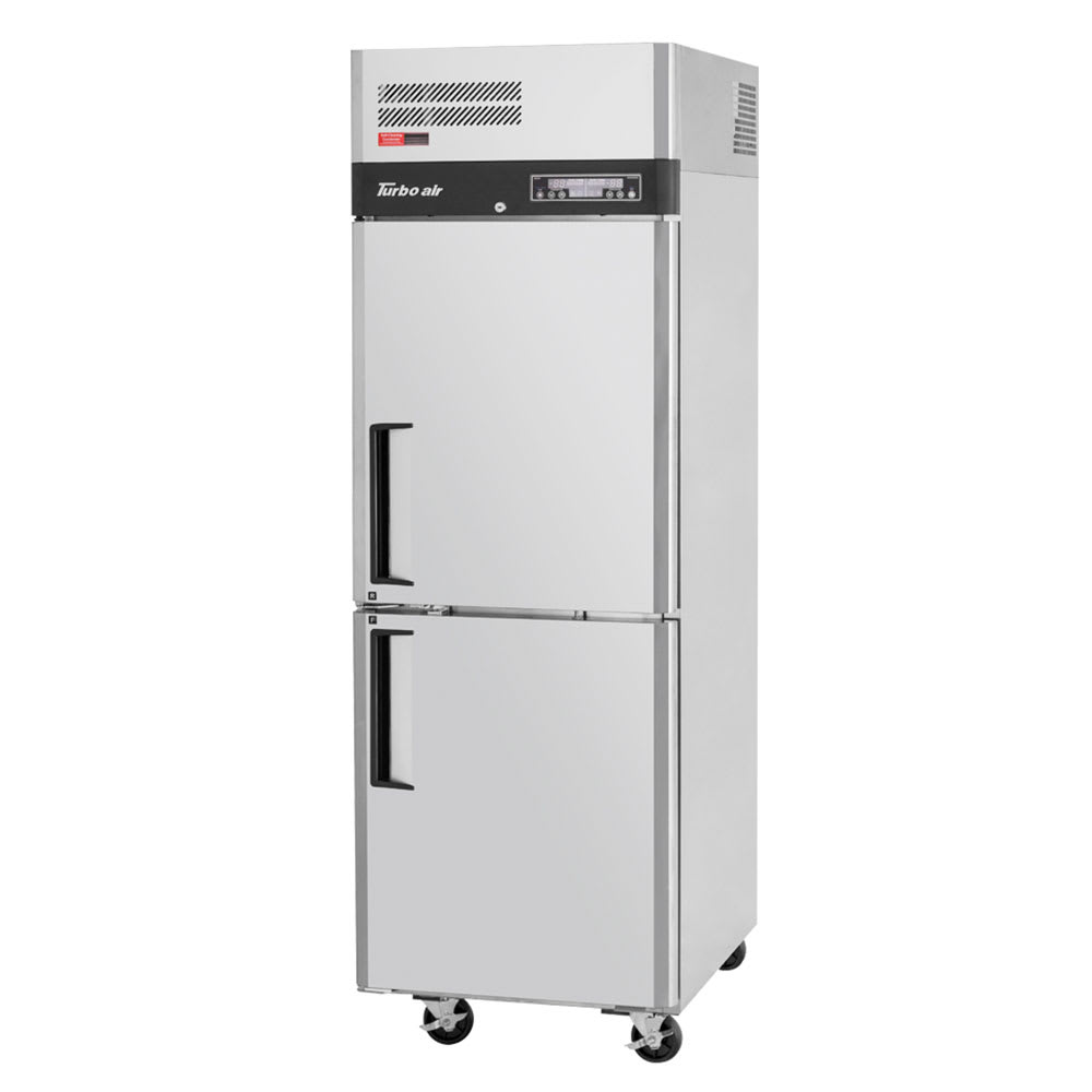 """Turbo Air M3RF19-2-N 25.13"""" One Section Commercial Refrigerator, Solid Doors, Top Compressor 115v"""