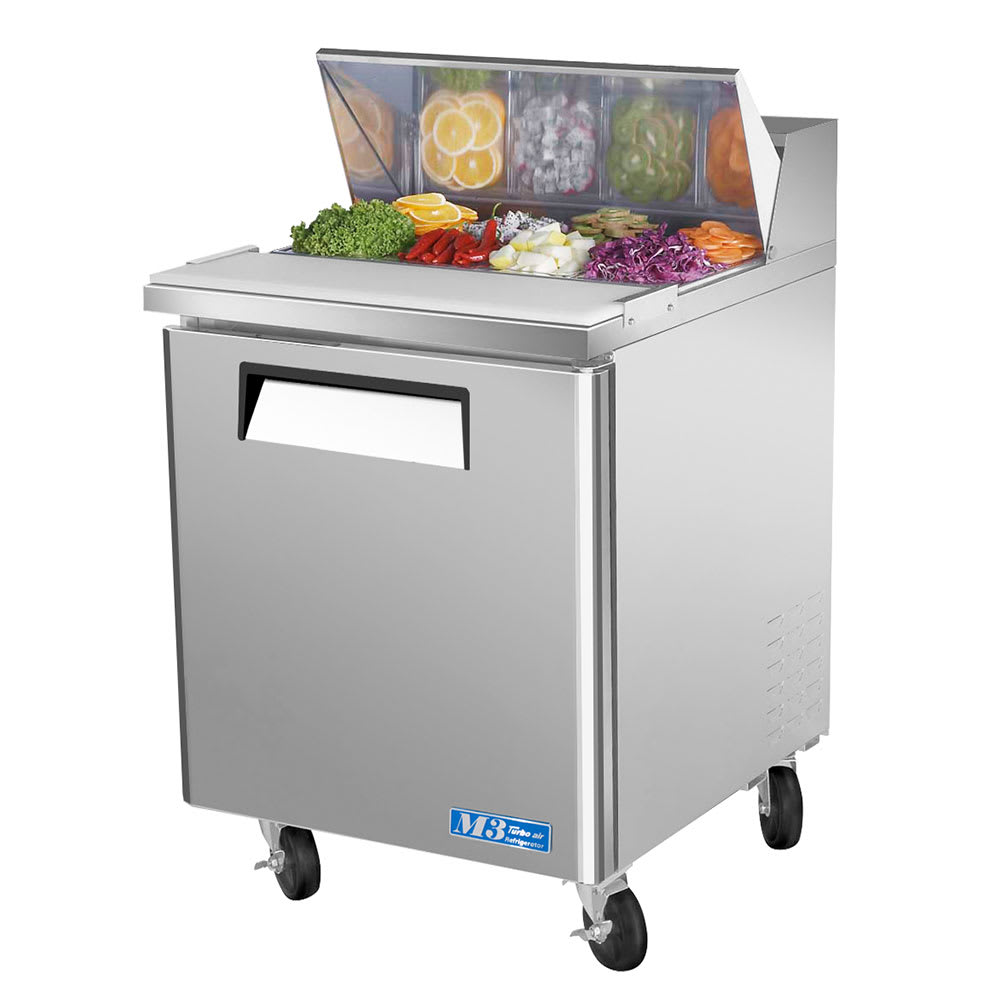 "Turbo Air MST-28 27"" Sandwich/Salad Prep Table w/ Refrigerated Base, 115v"