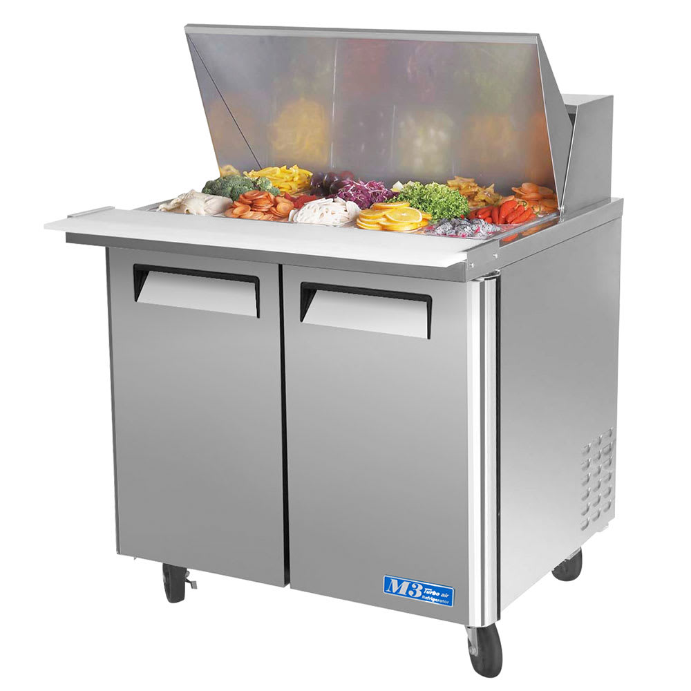 "Turbo Air MST-36-15 36"" Sandwich/Salad Prep Table w/Refrigerated Base, 115v"