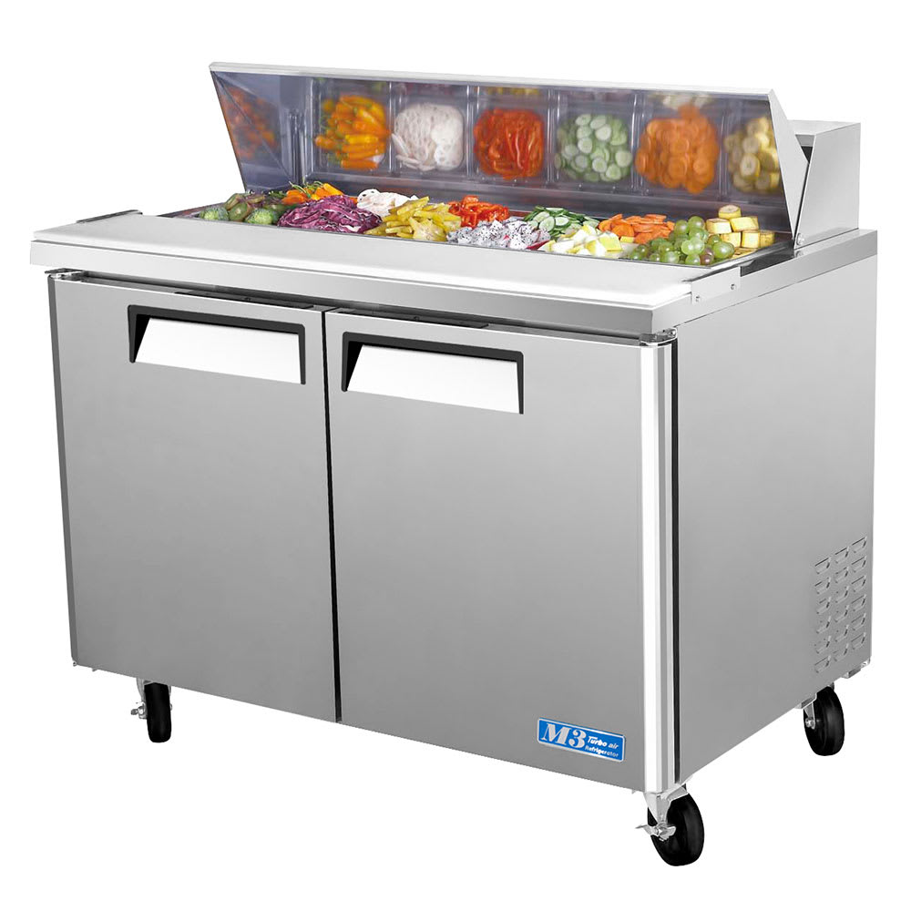 "Turbo Air MST-48 48"" Sandwich/Salad Prep Table w/ Refrigerated Base, 115v"