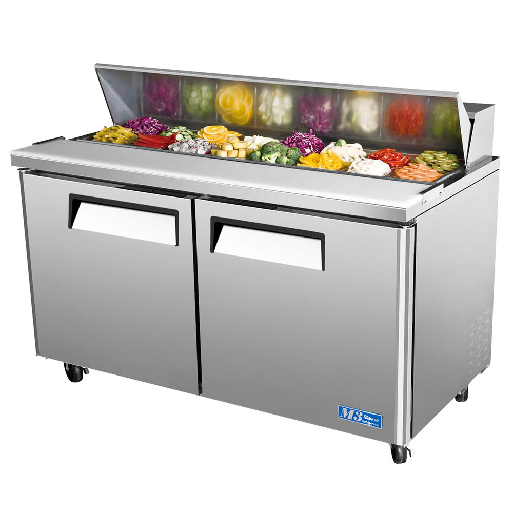 Turbo Air MST SandwichSalad Prep Table W Refrigerated Base - Restaurant supply prep table