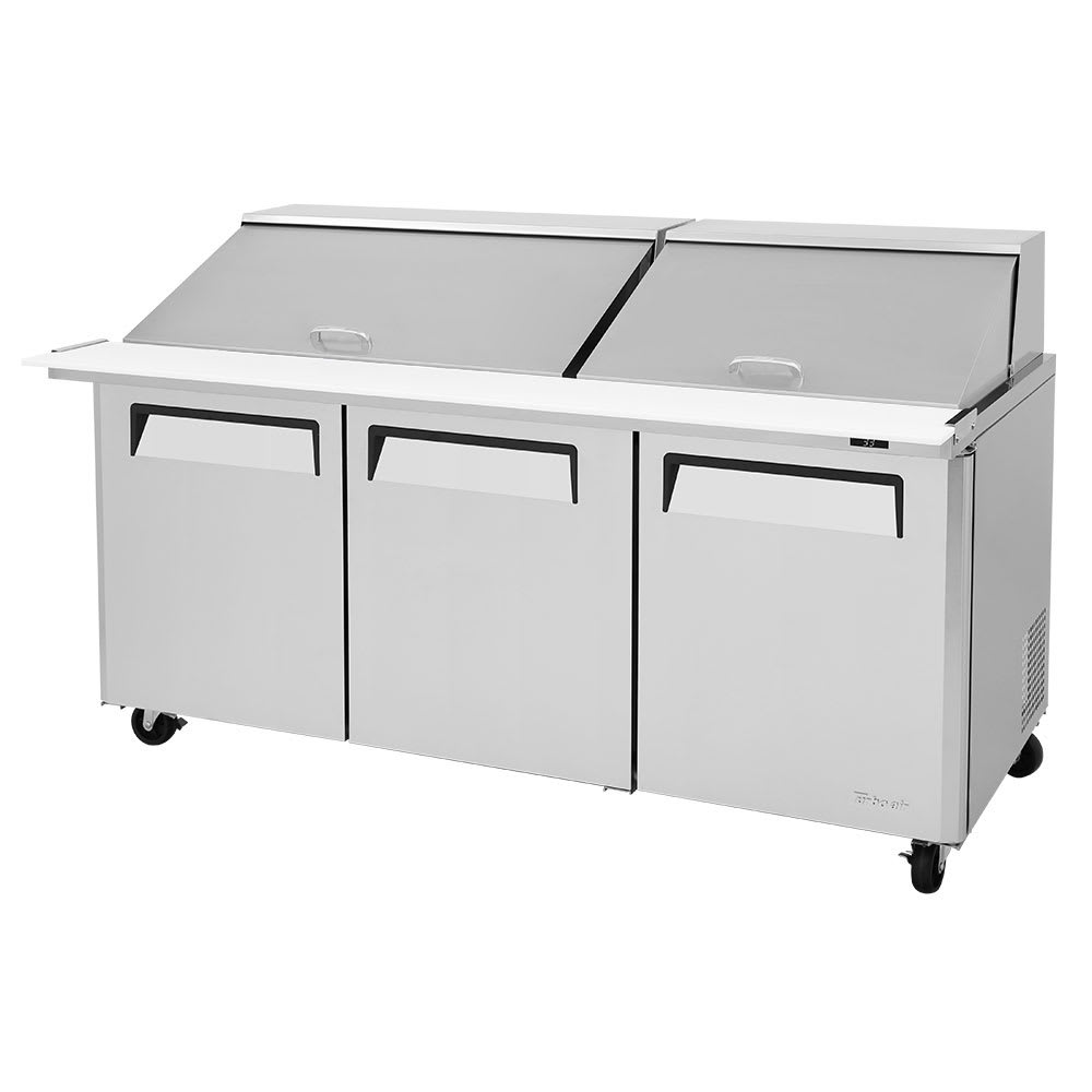"Turbo Air MST-72-30-N 72.62"" Sandwich/Salad Prep Table w/ Refrigerated Base, 115v"