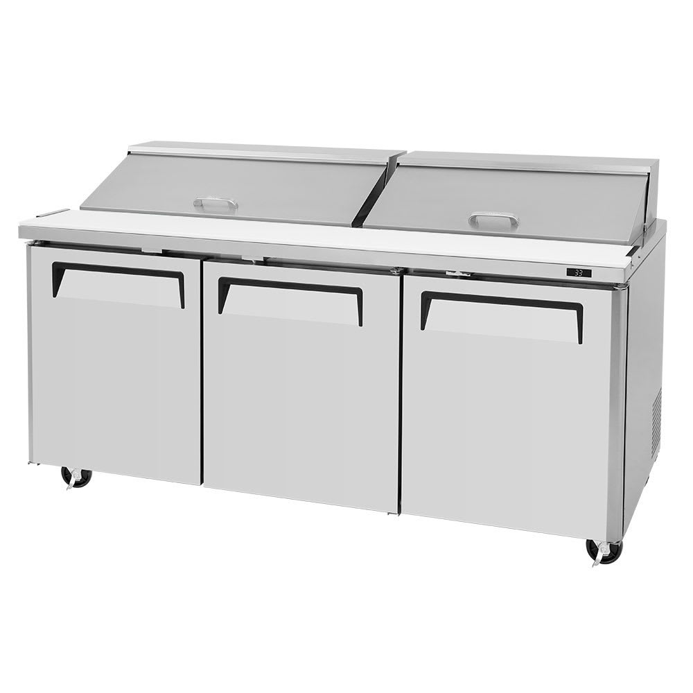 "Turbo Air MST-72-N 73"" Sandwich/Salad Prep Table w/ Refrigerated Base, 115v"