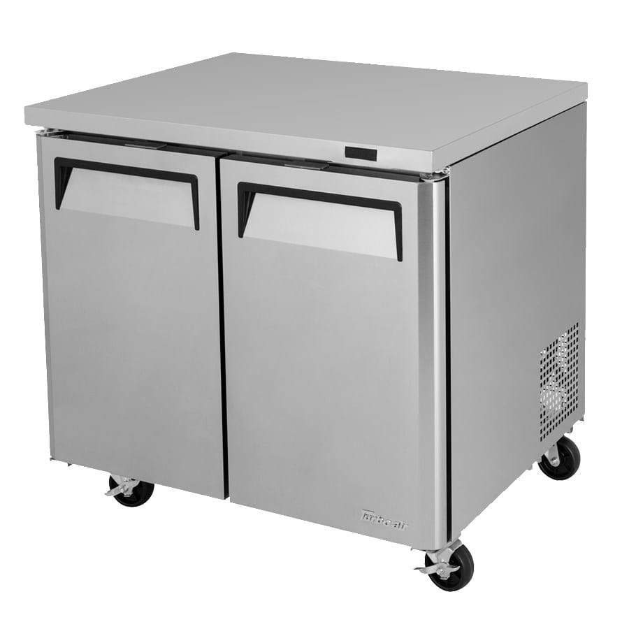 Turbo Air MUF-36-N 9 cu ft Undercounter Freezer w/ (2) Sections & (2) Doors, 115v