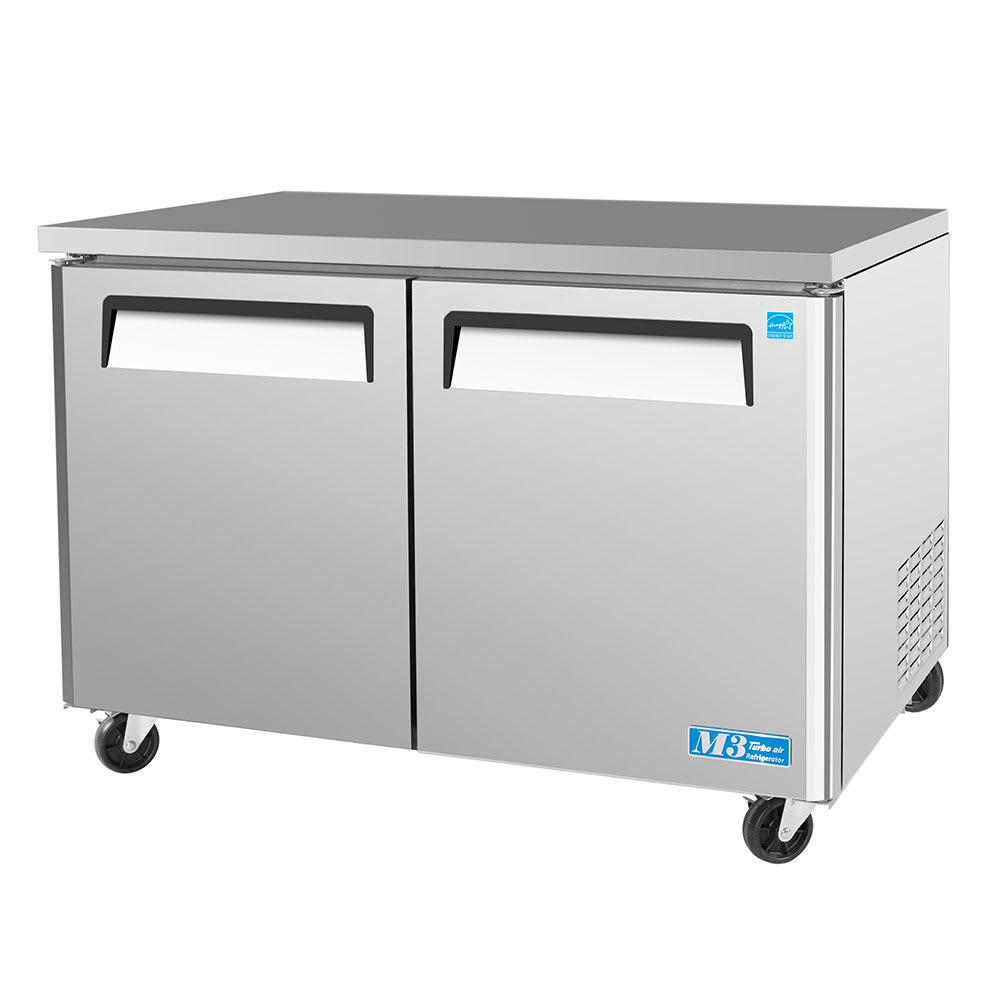 Turbo Air MUF-48 12 cu ft Undercounter Freezer w/ (2) Sections & (2) Doors, 115v