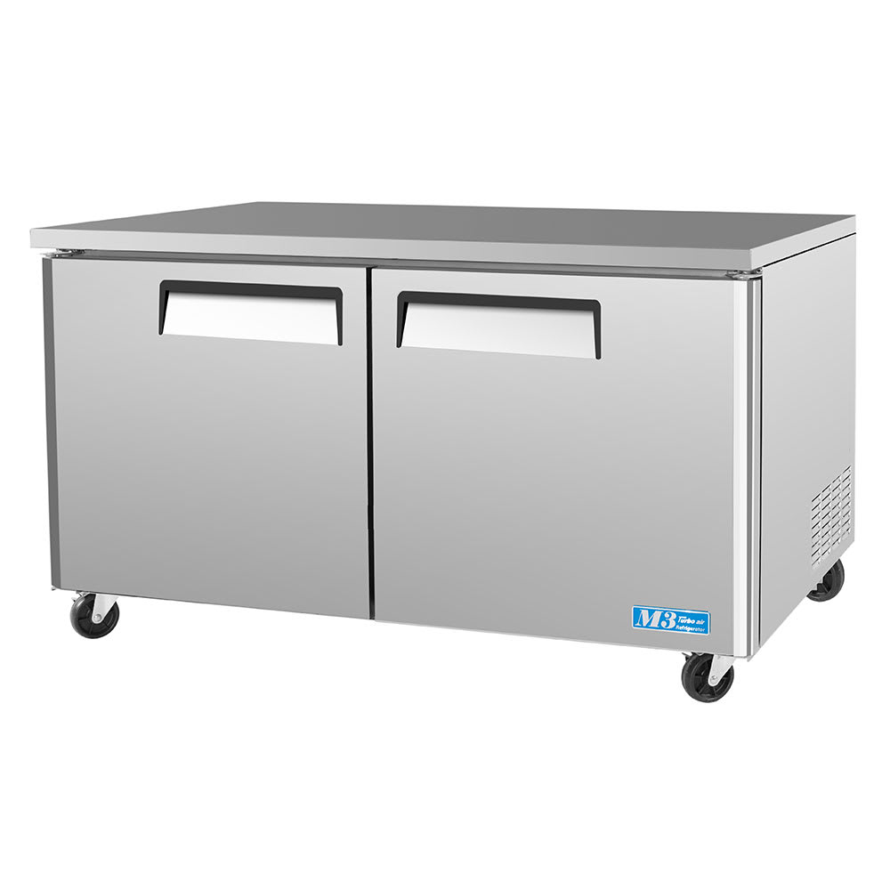 Turbo Air MUF-60 16 cu ft Undercounter Freezer w/ (2) Sections & (2) Doors, 115v