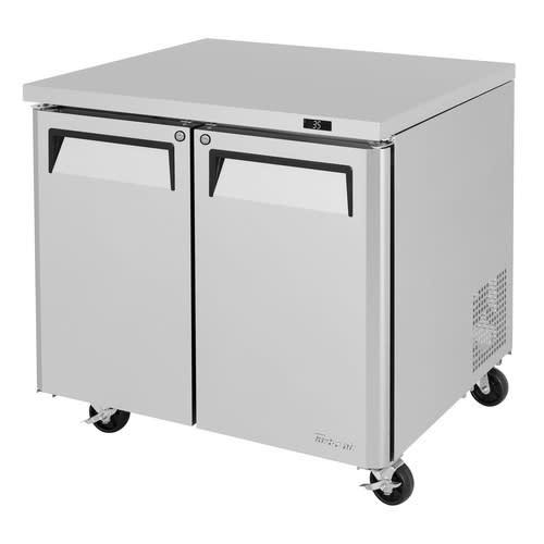 Turbo Air MUR-36 9.5 cu ft Undercounter Refrigerator w/ (2) Sections & (2) Doors, 115v