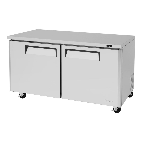 Turbo Air MUR-60 16 cu ft Undercounter Refrigerator w/ (2) Sections & (2) Doors, 115v
