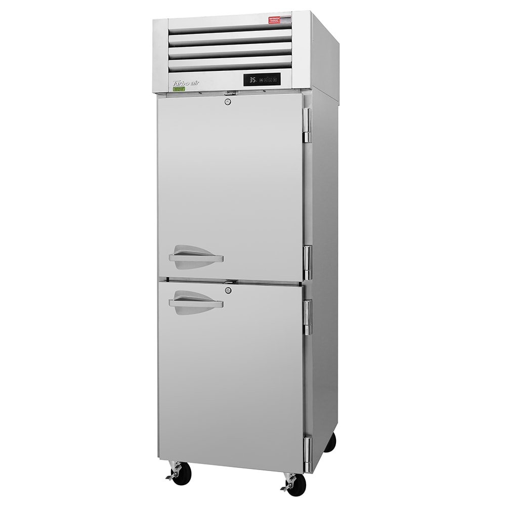 "Turbo Air PRO-26-2R-N 29"" Single Section Pass-Thru Refrigerator, (2) Solid Door, 115v"