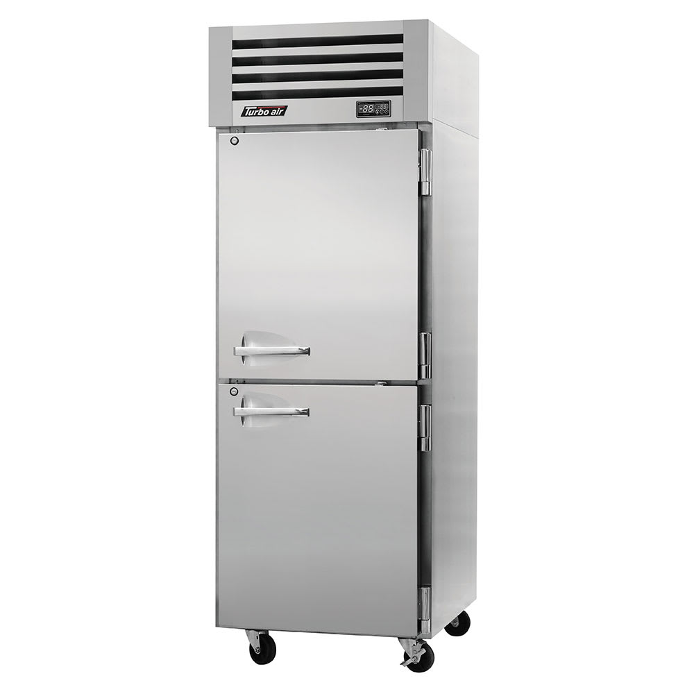 "Turbo Air PRO-26-2R-PT 28.75"" Single Section Pass-Thru Refrigerator, (4) Solid Doors, 115v"