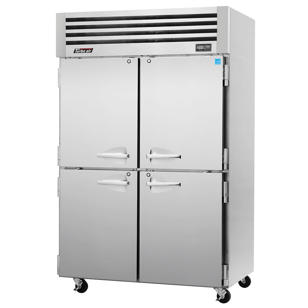 "Turbo Air PRO-50-4R 51.75"" Two Section Reach-In Refrigerator, (4) Solid Doors, 115v"