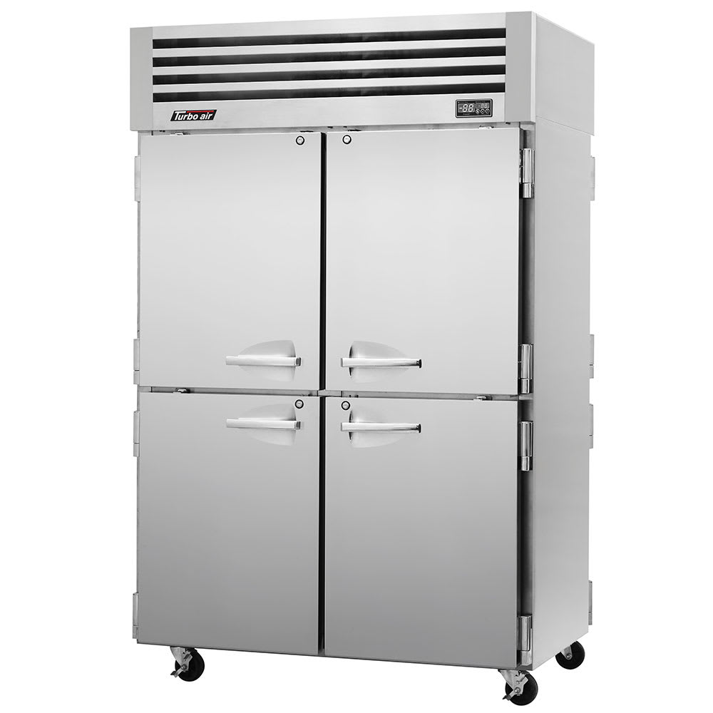 """Turbo Air PRO-50-4R-PT 51.75"""" Two Section Pass-Thru Refrigerator, (8) Solid Doors, 115v"""
