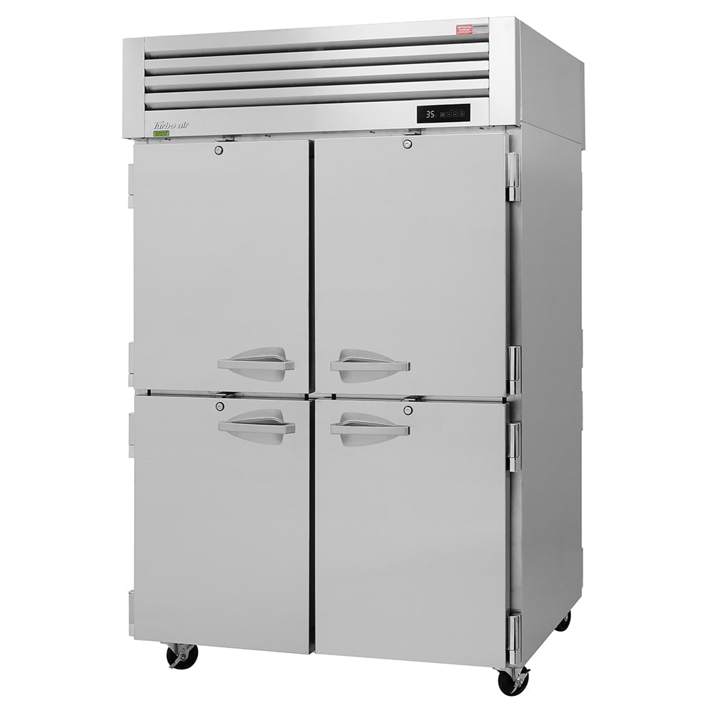 """Turbo Air PRO-50-4R-PT-N 52"""" Two Section Pass-Thru Refrigerator, (8) Solid Doors, 115v"""