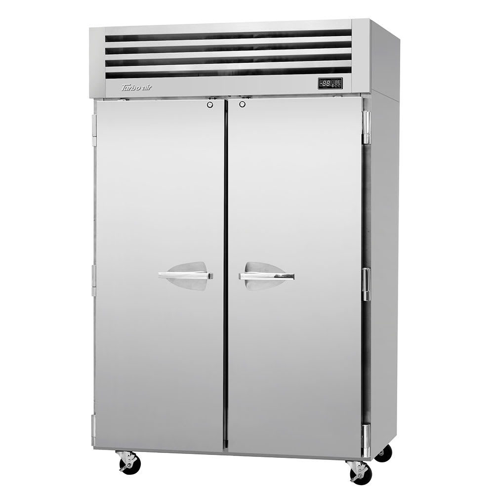 """Turbo Air PRO-50R-N 51.75"""" Two Section Reach-In Refrigerator, (2) Solid Doors, 115v"""