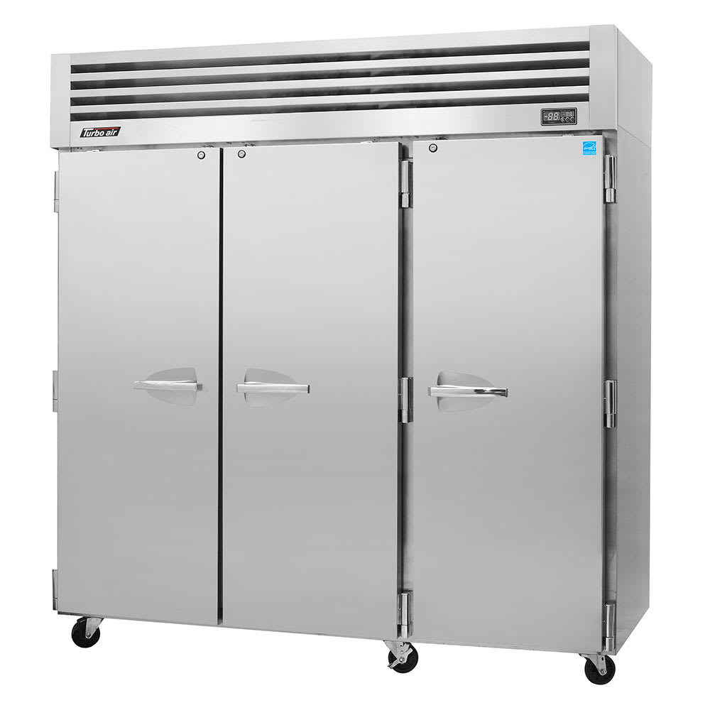 "Turbo Air PRO-77F 77.75"" Three Section Reach-In Freezer, (3) Solid Doors, 115v"