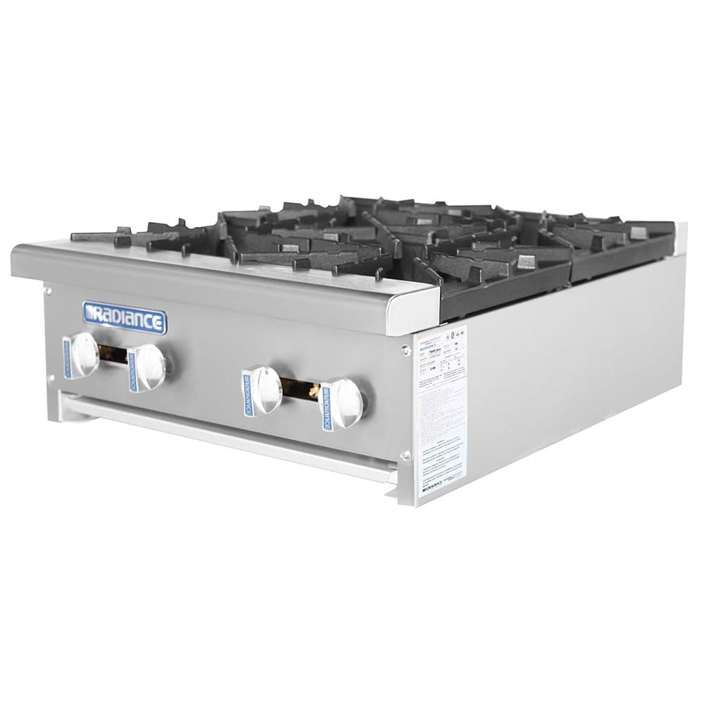 """Turbo Air TAHP-24-4 24"""" Gas Hotplate w/ (4) Burners & Manual Controls, LP"""