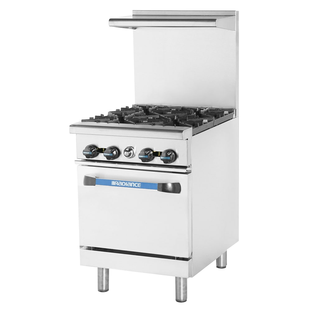 "Turbo Air TAR-4 24"" 4-Burner Gas Range, LP"