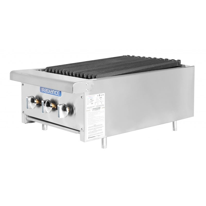 """Turbo Air TARB-18 18"""" Gas Countertop Charbroiler w/ Cast Iron Grate, NG"""