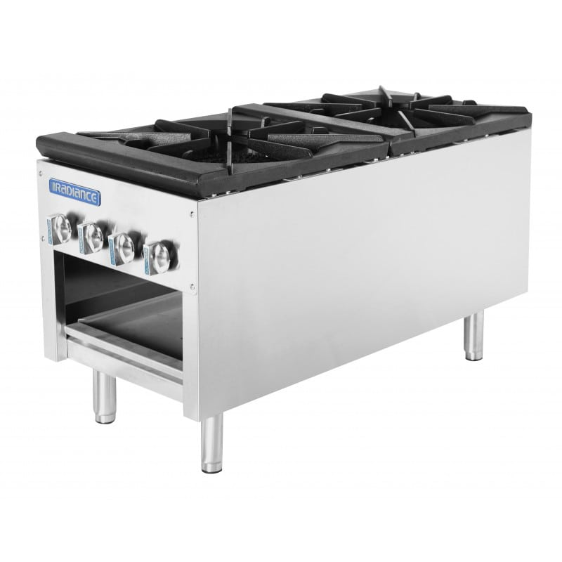 Turbo Air TASP-18-D 2-Burner Stock Pot Range, NG