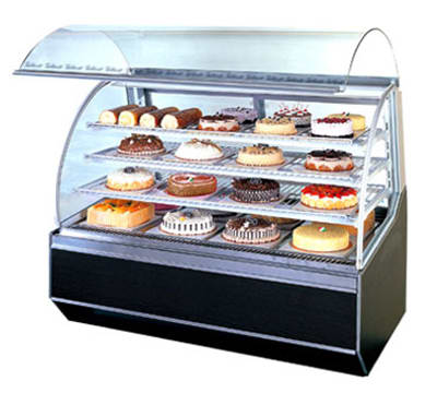 "Turbo Air TB-5 59"" Full Service Bakery Case w/ Curved Glass - (3) Levels, 115v"