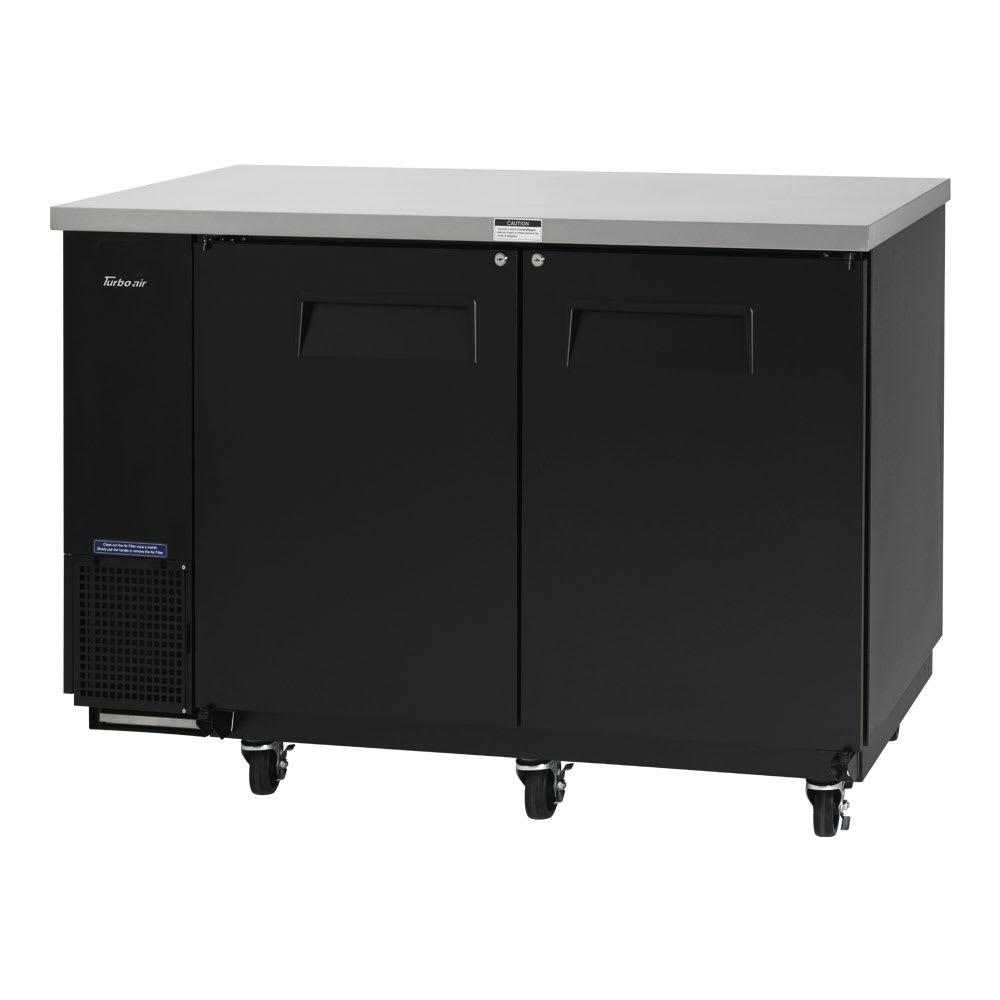 "Turbo Air TBB-24-60SB-N6 61"" (2) Section Bar Refrigerator - Swinging Solid Doors, 115v"