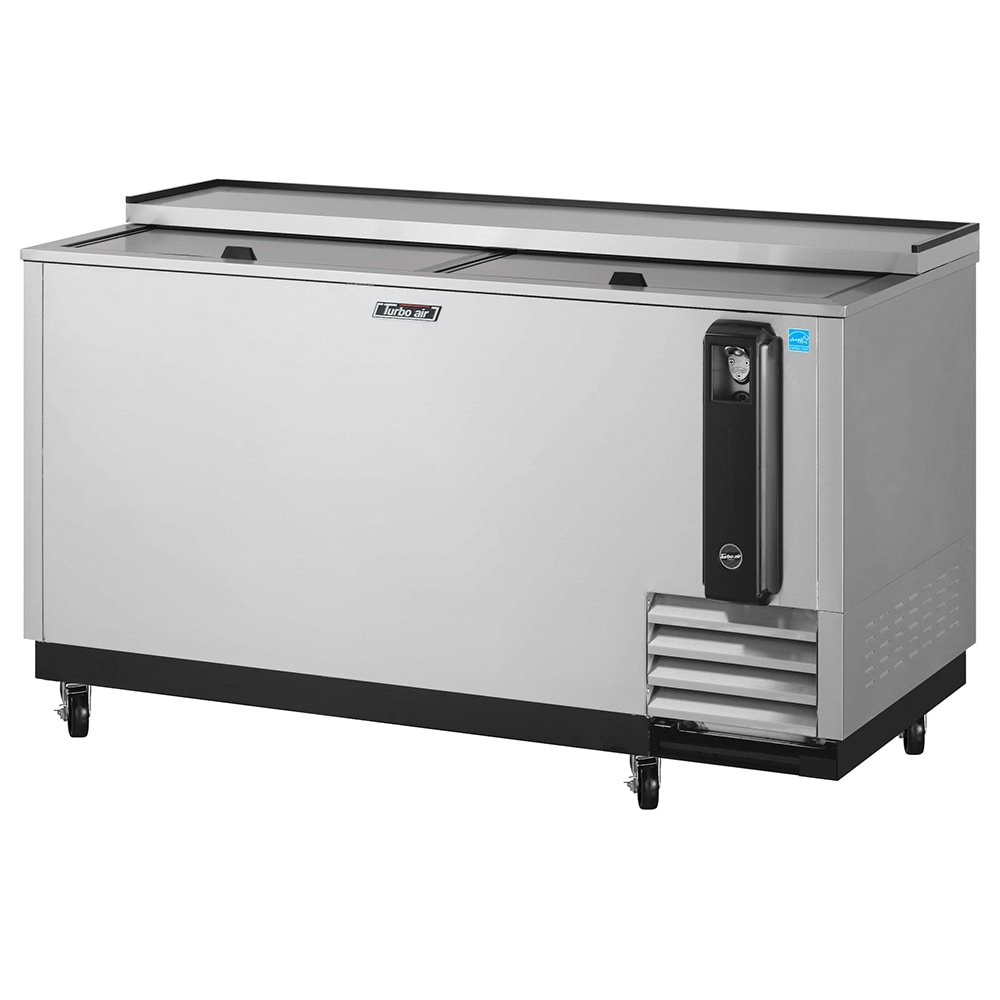 "Turbo Air TBC-65SD 65"" Forced Air Bottle Cooler - Holds (528) 12 oz Bottles, Stainless Interior, 115v"