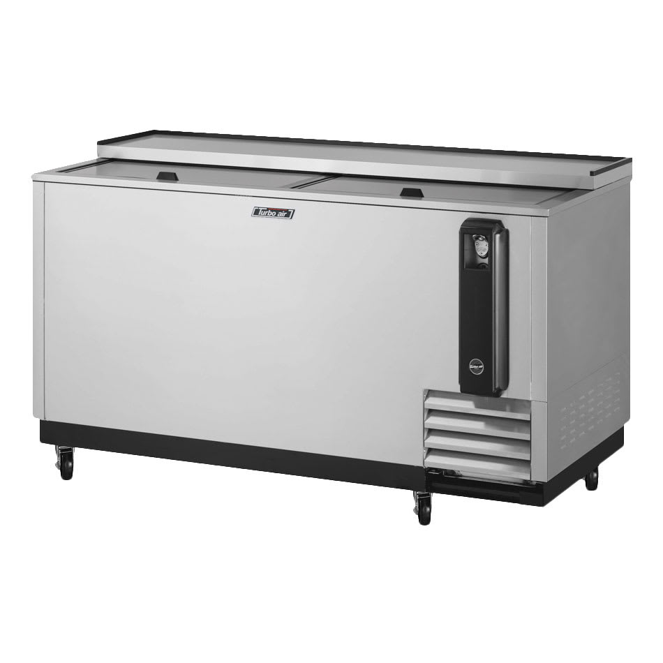 "Turbo Air TBC-65SD-N6 65"" Forced Air Bottle Cooler - Holds (528) 12 oz Bottles, Stainless Interior, 115v"