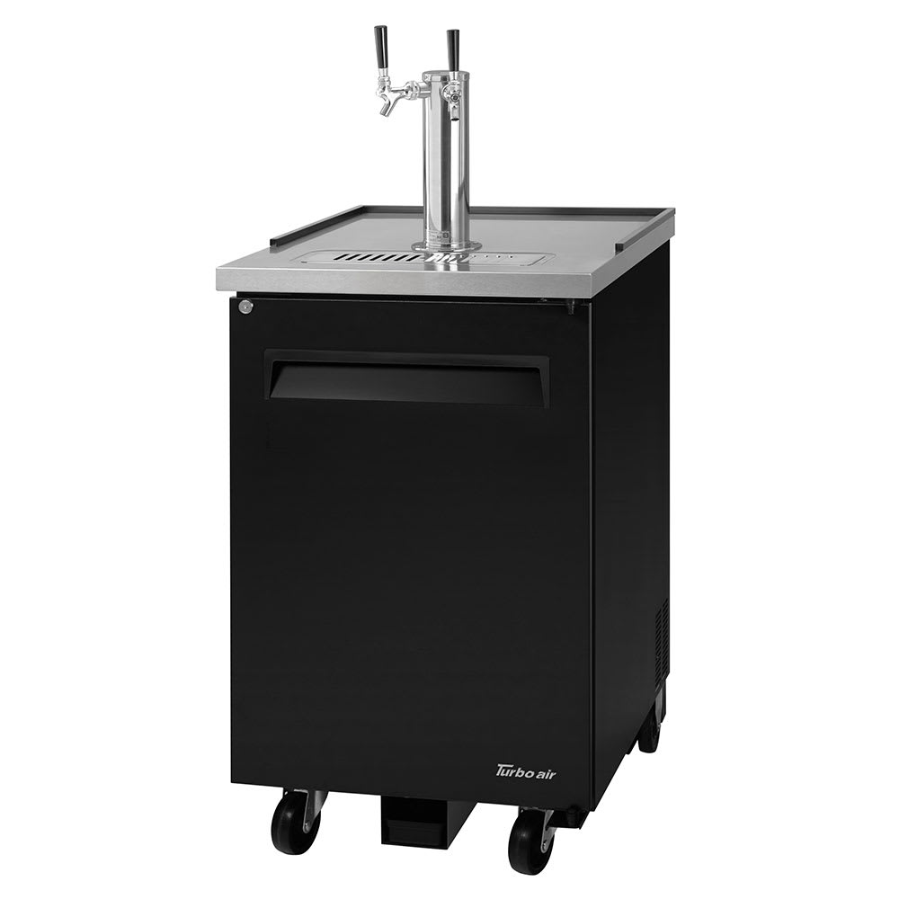 "Turbo Air TBD-1SB-N6 24"" Draft Beer System w/ (1) Keg Capacity - (1) Column, Black, 115v"