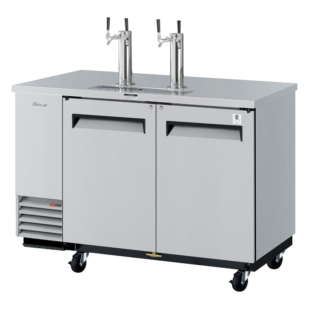 "Turbo Air TBD-2SD 59"" Draft Beer System w/ (2) Keg Capacity - (2) Columns, Stainless, 115v"