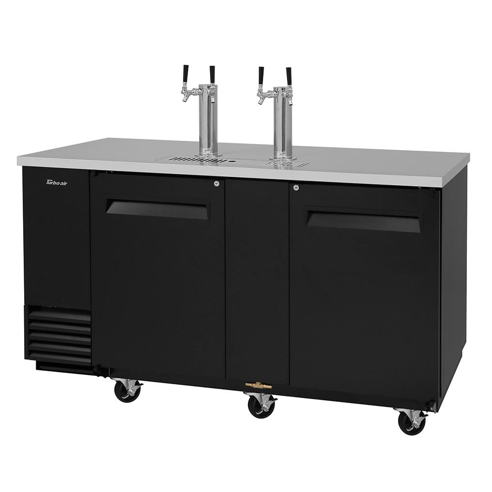 "Turbo Air TBD-3SB-N 69.13"" Draft Beer System w/ (3) Keg Capacity - (2) Columns, Black, 115v"