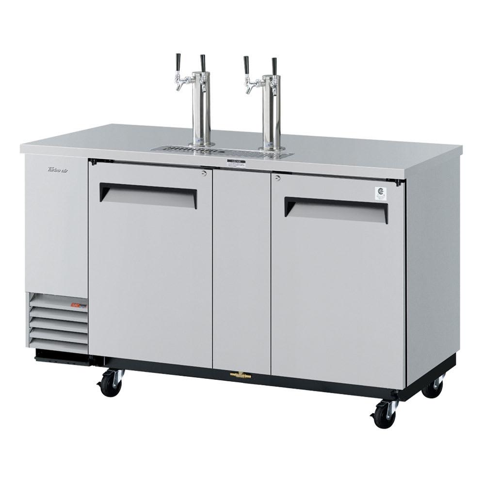 "Turbo Air TBD-3SD 69"" Draft Beer System w/ (3) Keg Capacity - (2) Columns, Stainless, 115v"