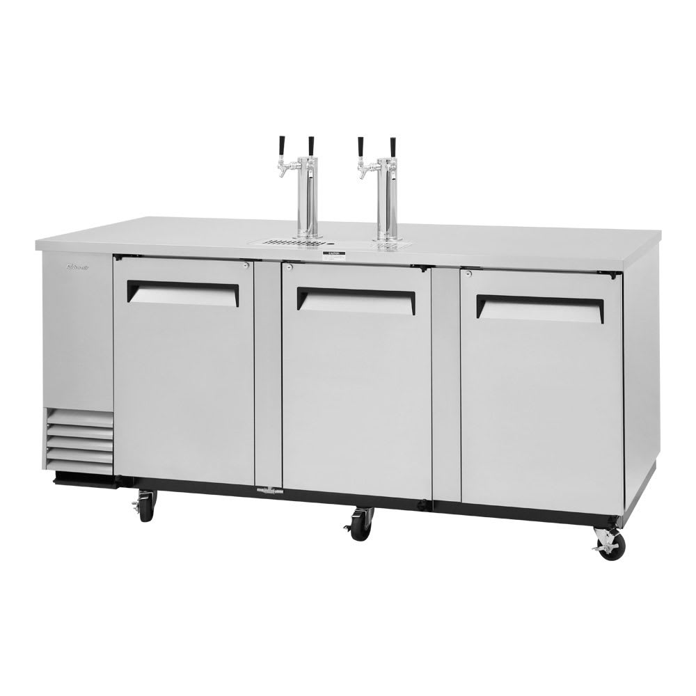 "Turbo Air TBD-4SD-N 90.38"" Draft Beer System w/ (4) Keg Capacity - (2) Columns, Stainless, 115v"