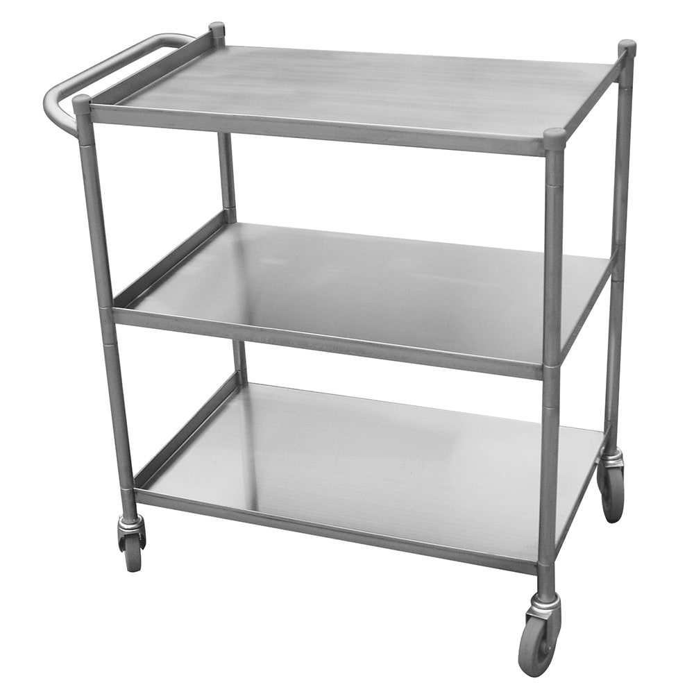 Turbo Air TBUS-1524E Economy Series Stainless Steel Utility Cart, 15 x 24""