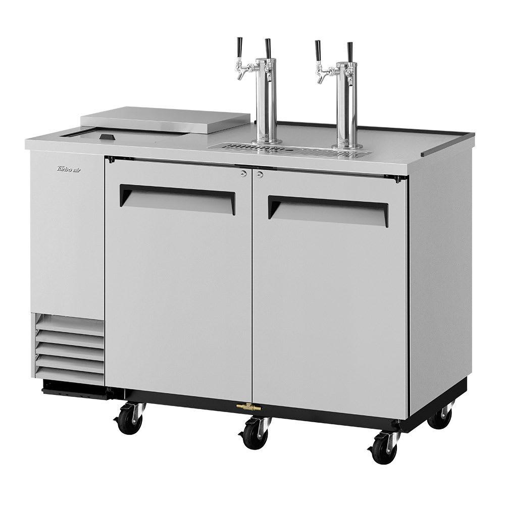 "Turbo Air TCB-2SD 59"" Draft Beer System w/ (2) Keg Capacity - (2) Columns, Stainless, 115v"