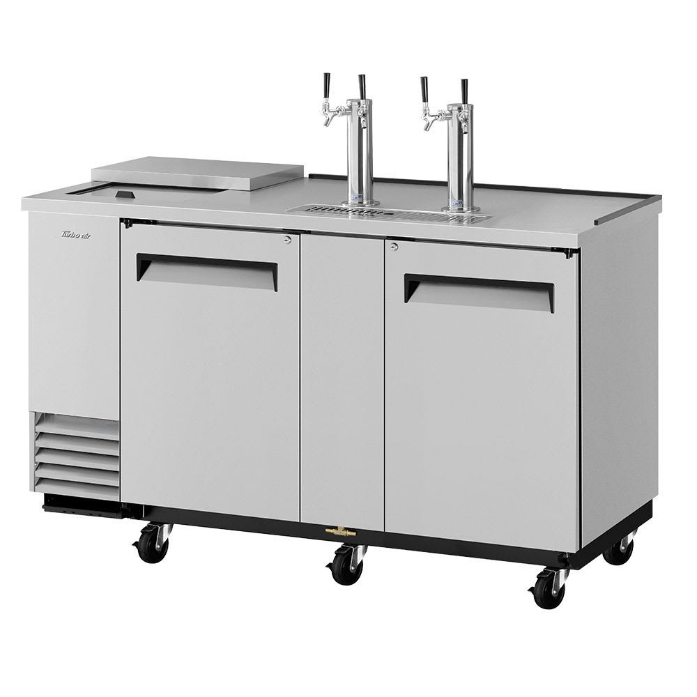 "Turbo Air TCB-3SD-N6 69.13"" Draft Beer System w/ (3) Keg Capacity - (2) Columns, Stainless, 115v"