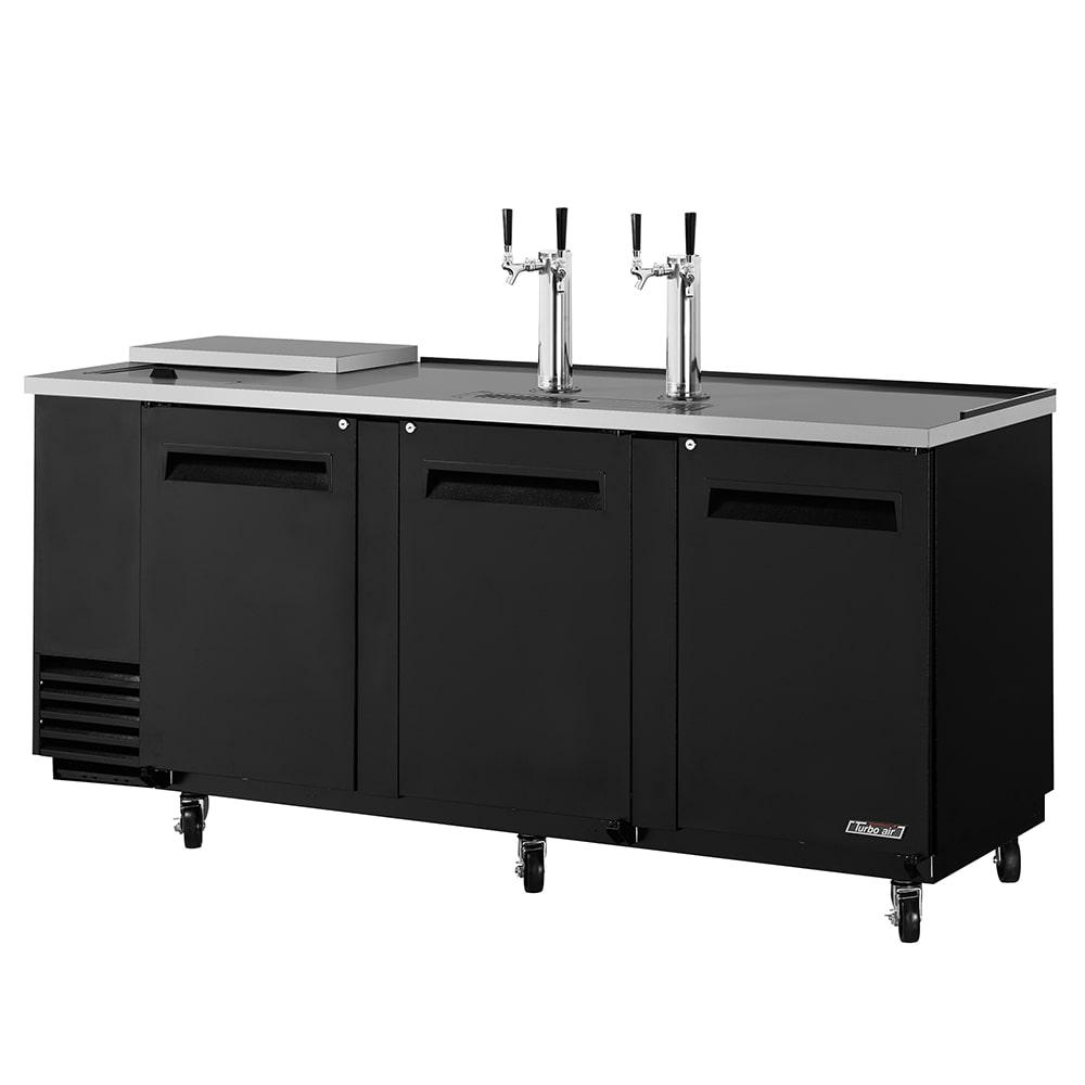 "Turbo Air TCB-4SB 90"" Draft Beer System w/ (4) Keg Capacity - (2) Columns, Black, 115v"