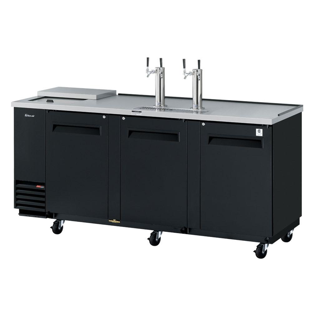 "Turbo Air TCB-4SB-N 90.38"" Draft Beer System w/ (4) Keg Capacity - (2) Columns, Black, 115v"